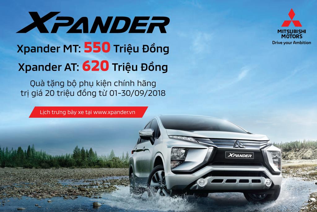 Mitsubishi Xpander chính thức công bố giá bán với nhiều ưu đãi hấp dẫn